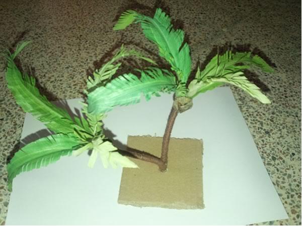 Como hacer palmeras con goma eva paso a paso de una palmera - Como hacer una palmera artificial ...